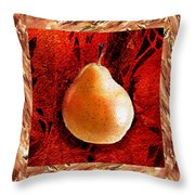 Nude N Beautiful Pear  Throw Pillow