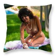 Nude Picnic 2 Throw Pillow