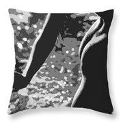 Nude Posterized 7 Throw Pillow