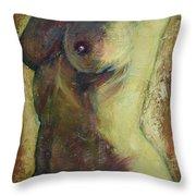 Nude Female Torso Throw Pillow