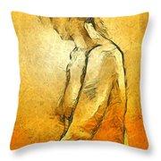 Nude Viii Throw Pillow
