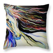 Nuella Horse With The White Shoulder Throw Pillow