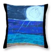 Nuestra Luna Throw Pillow