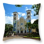 Nuestra Senora Del Pilar Throw Pillow