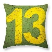 Number 13 Throw Pillow