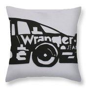 Number 3 Car Wrangler Throw Pillow