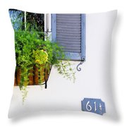 Number 61 And A Quarter - Charleston S C - Travel Photographer David Perry Lawrence Throw Pillow