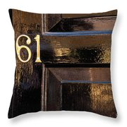 Number 61 Throw Pillow