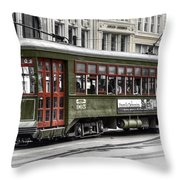 Number 965 Trolley Throw Pillow