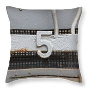 Number Five Throw Pillow