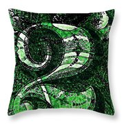 Number Two In Green  Throw Pillow