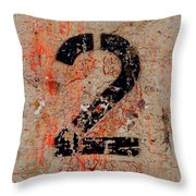 Number Two Throw Pillow