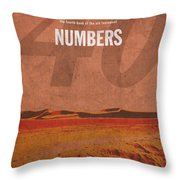 Numbers Books Of The Bible Series Old Testament Minimal Poster Art Number 4 Throw Pillow by Design Turnpike