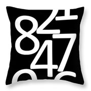 Numbers In Black And White Throw Pillow
