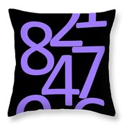 Numbers In Purple And Black Throw Pillow
