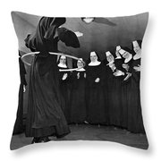 Nun Swivels Hula Hoop On Hips Throw Pillow
