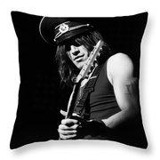 Nuno Bettencourt In A Peak-cap. Live 2012 Throw Pillow