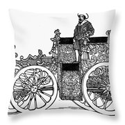 Nuremberg Carriage, 1649 Throw Pillow