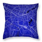 Nuremberg Street Map - Nuremberg Germany Road Map Art On Colored Throw Pillow