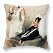Nurse: Calendar, 1899 Throw Pillow