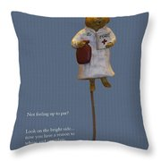 Nurse Mouse Throw Pillow