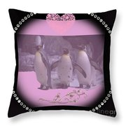 Nursery And Childrens Series Penguins Throw Pillow