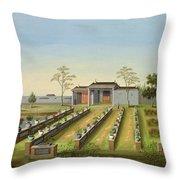 Nursery Garden, C.1820-40 Throw Pillow