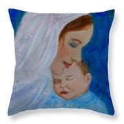 Nurturing Love Of A Mother  Throw Pillow by The Art With A Heart By Charlotte Phillips
