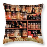 Nut Shop Throw Pillow