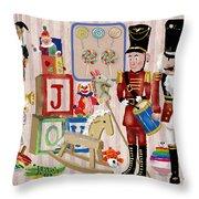 Nutcracker And Friends Throw Pillow