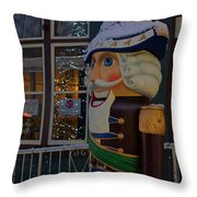 Nutcracker Statue In Downtown Grants Pass Throw Pillow