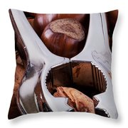 Nutcracker With Nuts Closeup Throw Pillow
