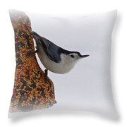 Nuthatch Bell Throw Pillow
