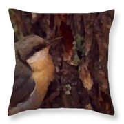 Nuthatch Up Close Throw Pillow