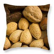 Nuts Aglow Throw Pillow