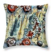 Nuts And Rivets  Throw Pillow