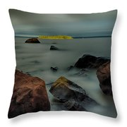 Nuttall Island Last Sunlight Throw Pillow by Jakub Sisak