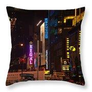 Nw 42nd Street  Throw Pillow