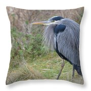 Nw Blue Heron Throw Pillow