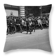 Ny Armored Motorcycle Squad  Throw Pillow