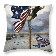 Ny: British Evacuation Throw Pillow