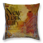 Ny City Collage - 6 Throw Pillow