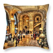 Ny Library Foyer Throw Pillow
