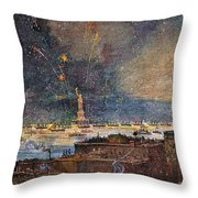 Ny: Statue Of Liberty, 1886 Throw Pillow