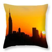 Ny  Sunrise For Thanksgiving Throw Pillow