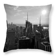 Ny Times Skyline Bw Throw Pillow