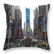 Ny Times Square Throw Pillow