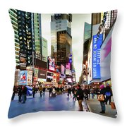 Ny Times Square Impressions I Throw Pillow