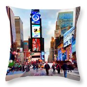 Ny Times Square Impressions IIi Throw Pillow