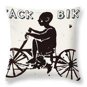 Nyack Bike Throw Pillow